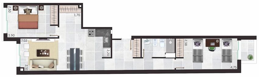 Alta Corte 2 Dormitorios unidades 04