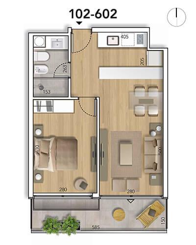 Lyra Plano 1 Dormitorio 02