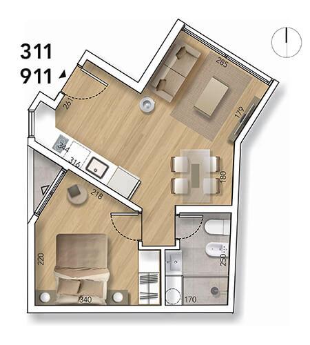 Lyra Plano 1 Dormitorio 11