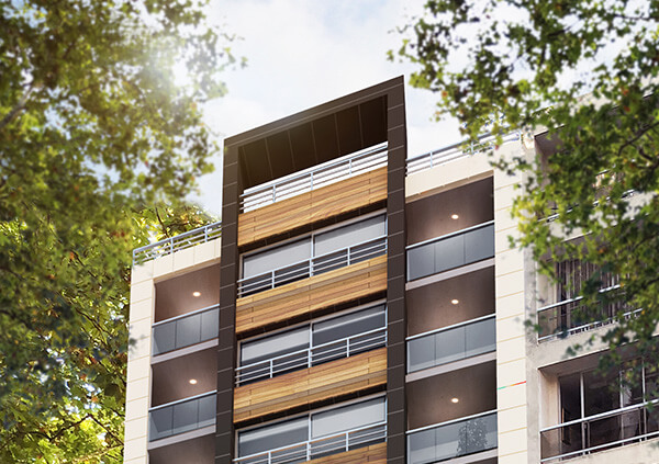 Marina W fachada monoambiente para inversion
