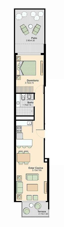 L+ 1 dormitorio 101