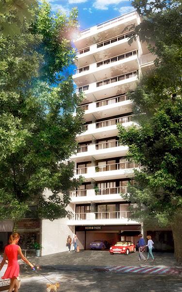 Berro Park - Fachada monoambiente en villa biarritz