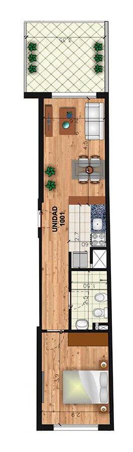 1 dormitorio penthouse Marina 26 III