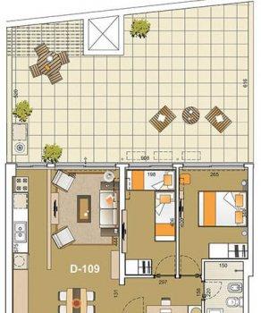e tower sky 2 dormitorios con patio