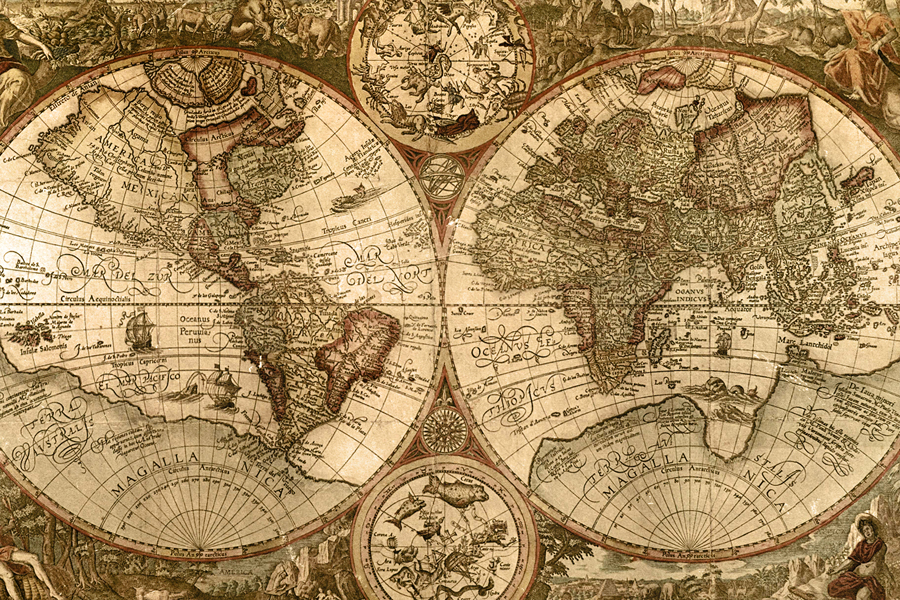 World Maps 1500s Sea Monsters