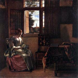 Pieter_de_Hooch_-_Woman_Reading_a_Letter