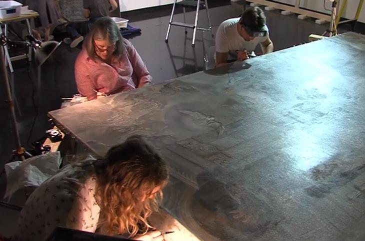 Restauração em obras de Salvador Dali