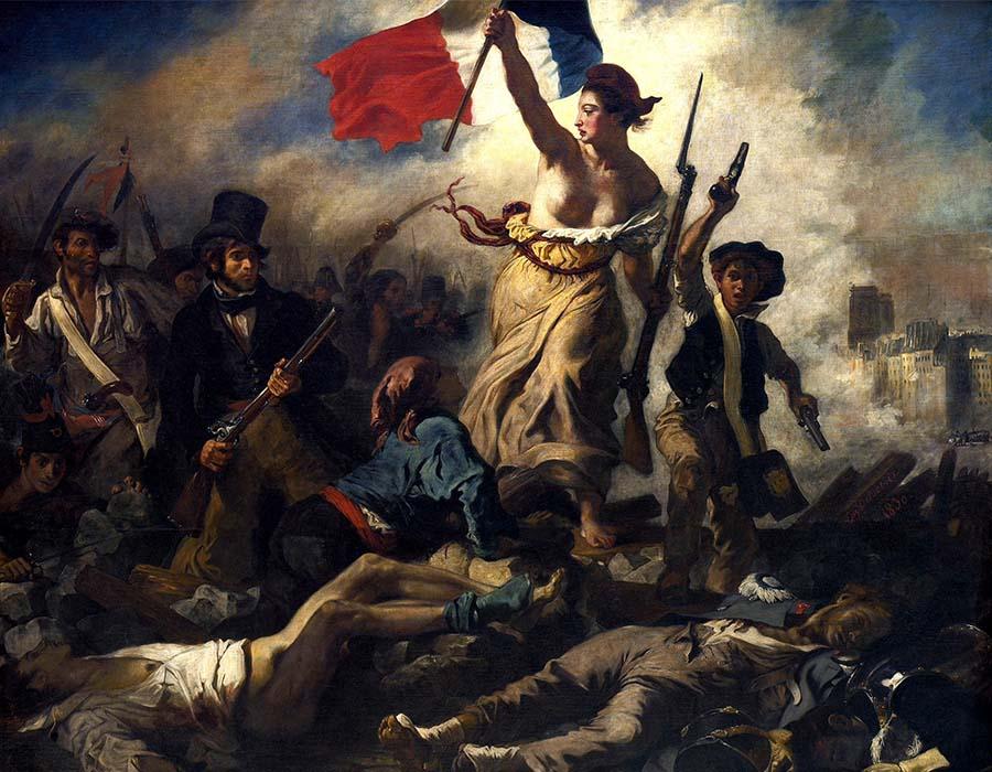 Delacroix. A Liberdade Guia o Povo, 1830.; o que é arte