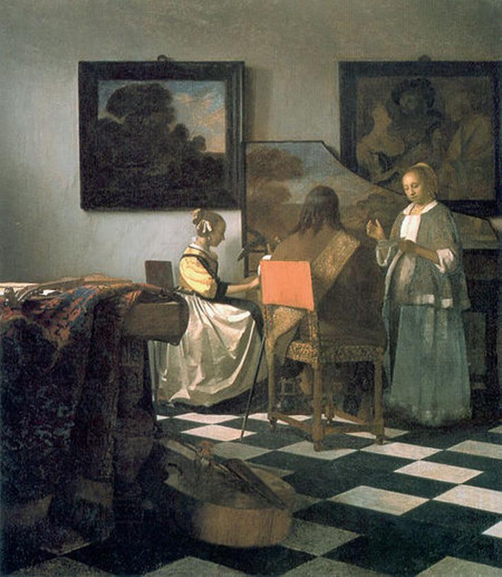 Vermeer, The concert. obras de arte perdidas