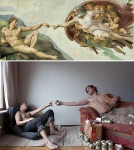 A criação de Adão Michelangelo
