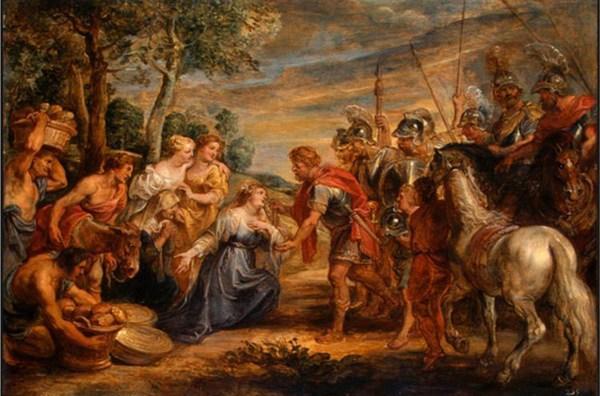 il riunione di david e abigail – (Peter Paul Rubens)