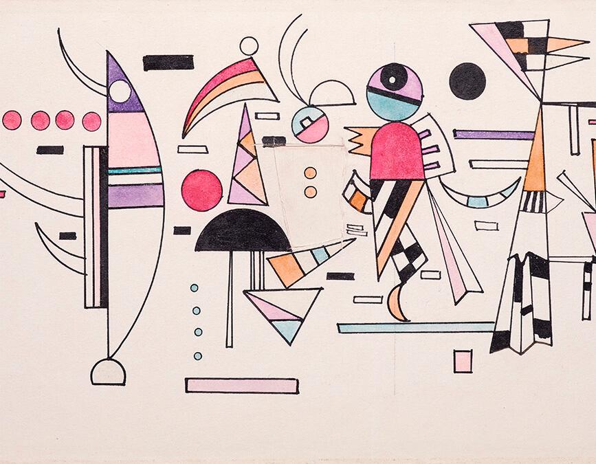 Entwurf zu Leicht Zusammen de Kandinsky