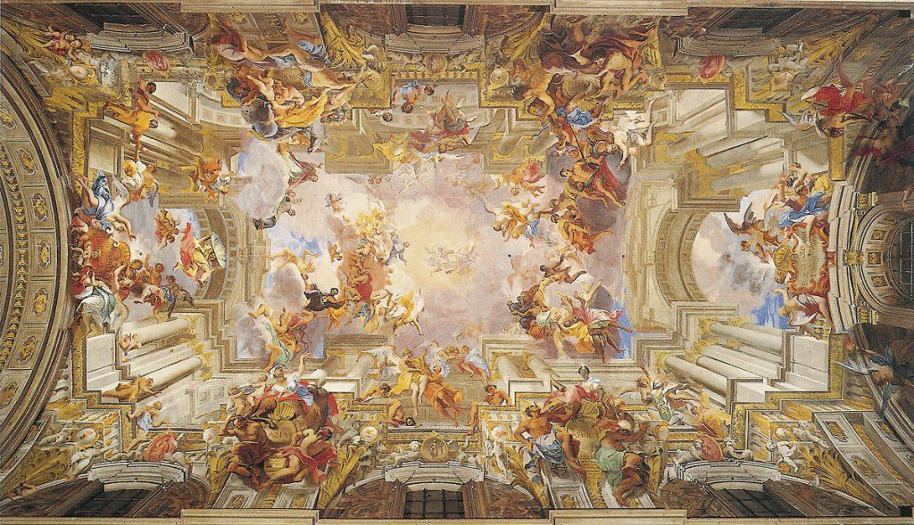Igreja de Santo Ignazio: desenho anamórfico