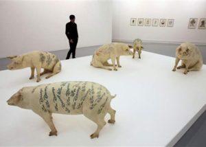 Wim Delvoye - Porcos Tatuados – 2010.