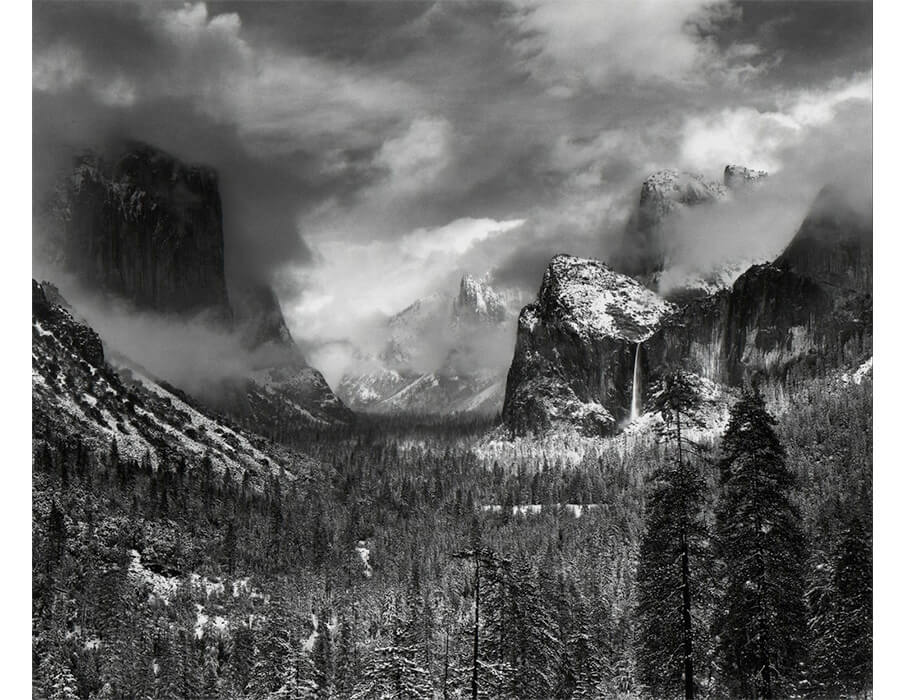 ansel adams; Clearing Winter Storm, Yosemite Valley, California, ca. 1937