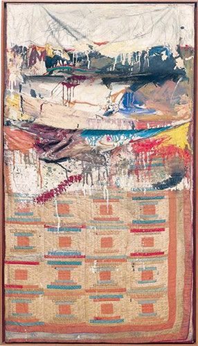 pop art; Robert Rauschenberg - Bed (1955)