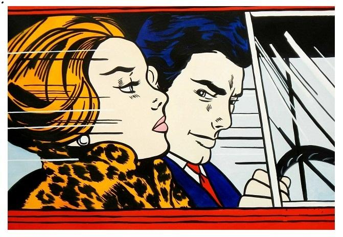 pop art; In the Car (1963), de Roy Lichtenstein