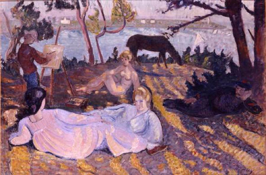 fauvismo; Jean Puy, Flânerie sous les pins (1905