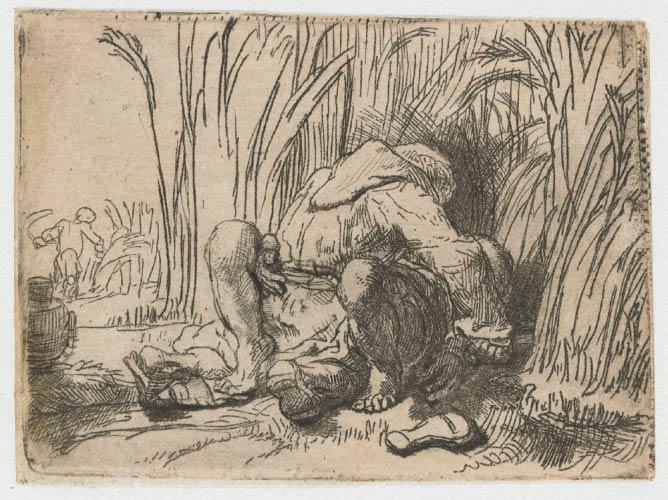 Rembrandt, o monge no campo de milho | C. 1646