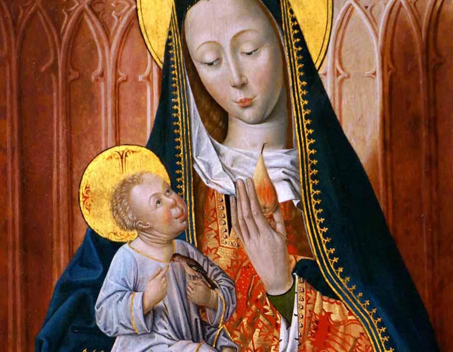 bebês nas pinturas medievais