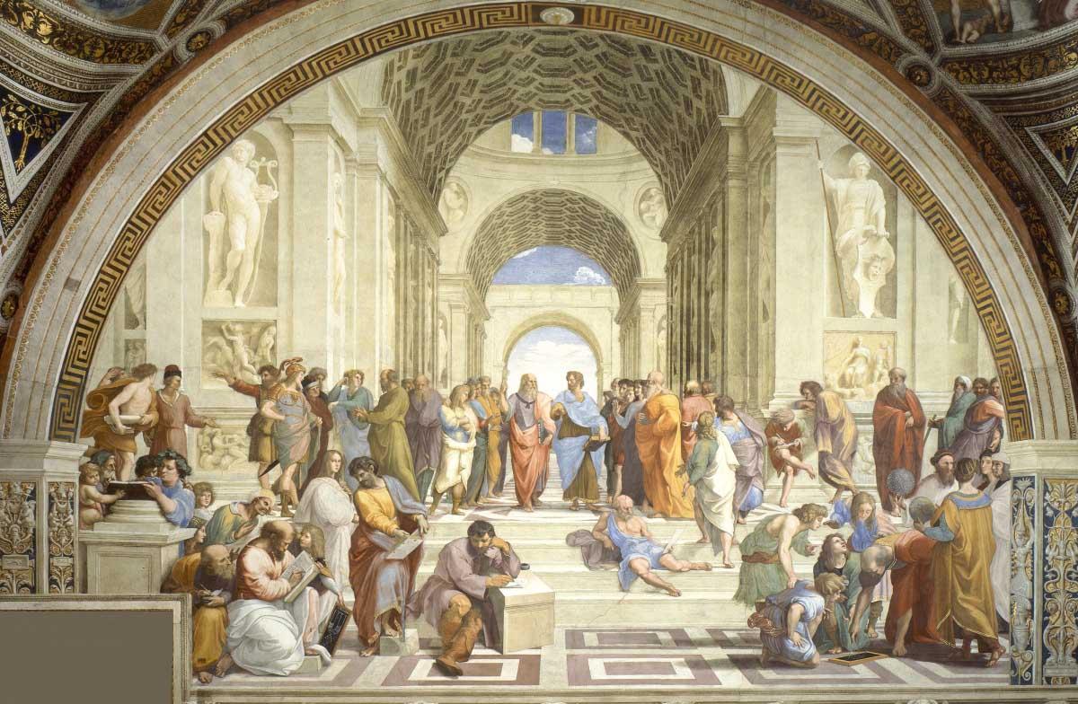 Raphael (Raffaello Sanzio), School of Athens, c. 1510–12 Stanza. Platão