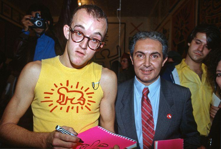Keith Haring e Tony Shafrazi (© Allan Tannenbaum )