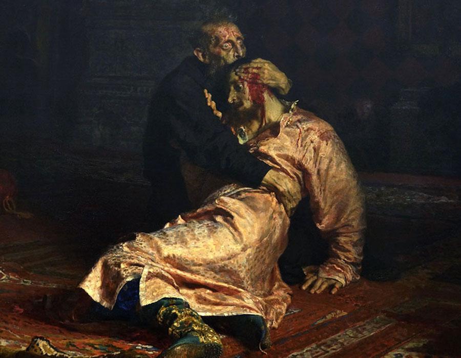 A pintura de Ivan o terrível foi 'seriamente danificada' por um bêbado.