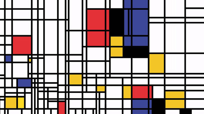 Obra artística criada por Mondrian no início do século XX. (imagem extraída de Atelier)