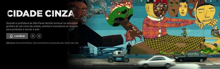 cidade cinza, documentários sobre arte