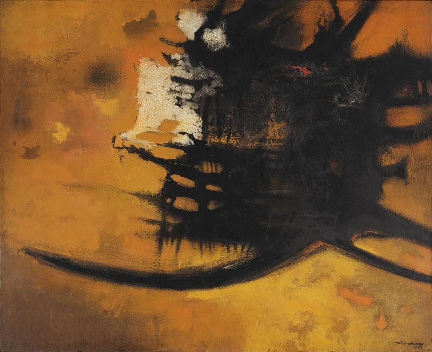 arte abstrata; manabu mabe; Estranho (1959)