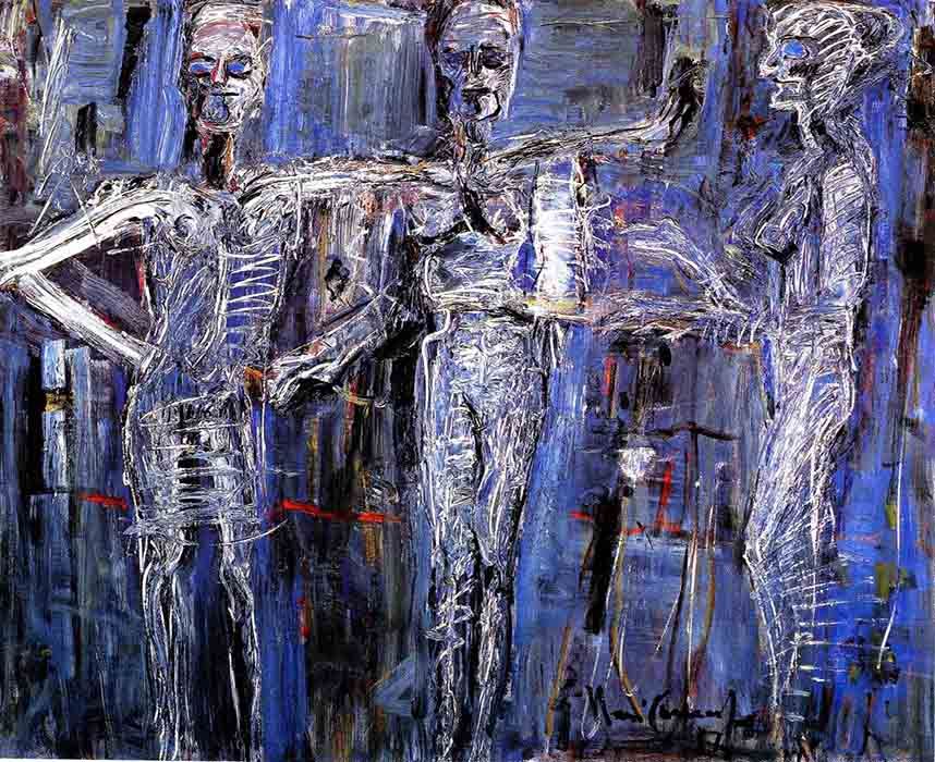 arte abstrata; iberê camargo; Fantasmagoria (1987)
