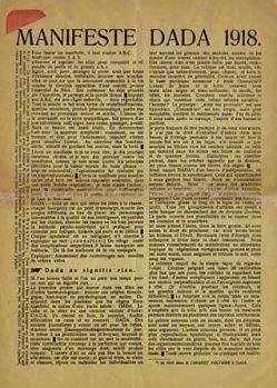dadaísmo; Manifesto Dadaísta