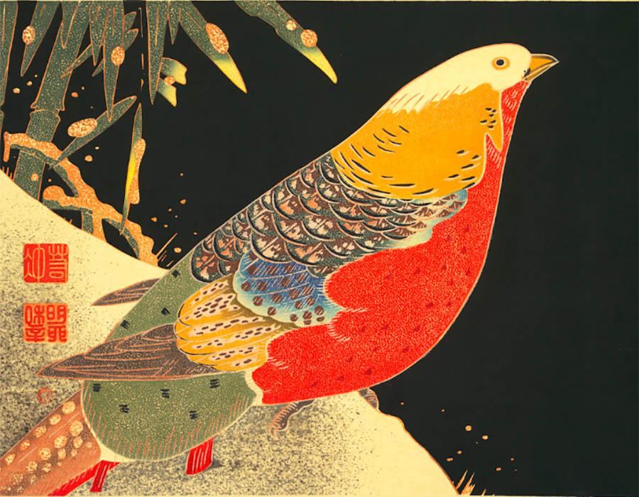 As xilogravuras policromáticas  de Itō Jakuchū