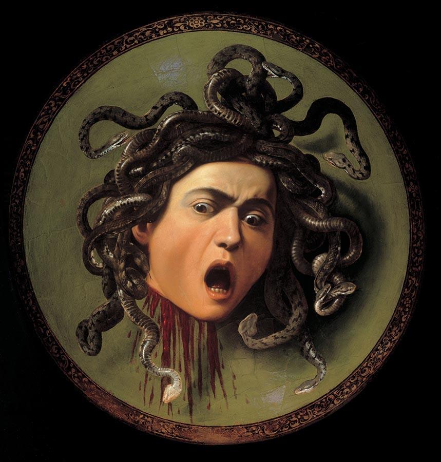 obras; medusa de caravaggio
