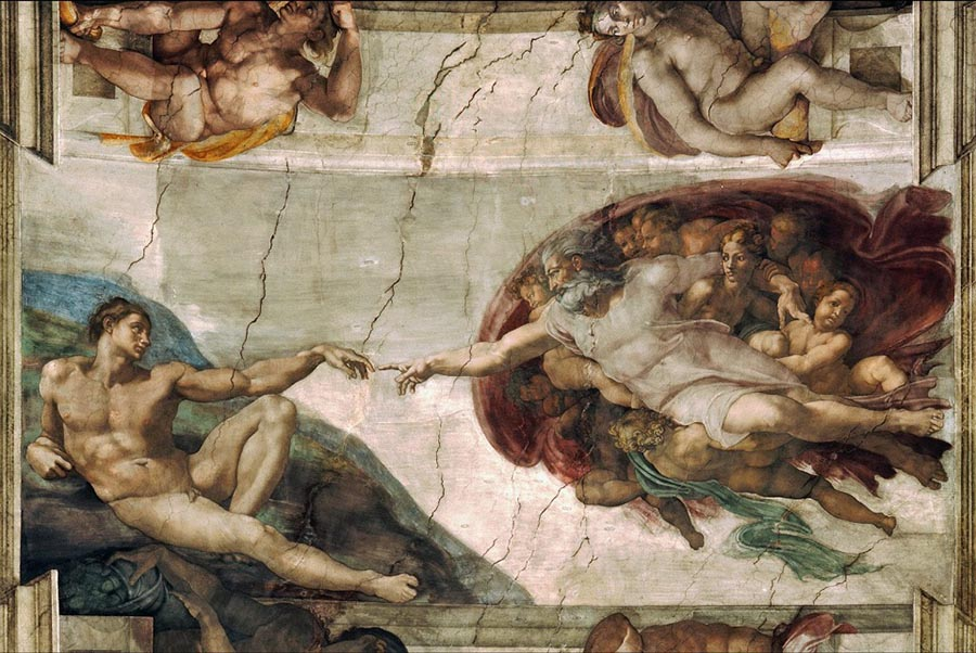 obras; the-creation-of-adam-michelangelo