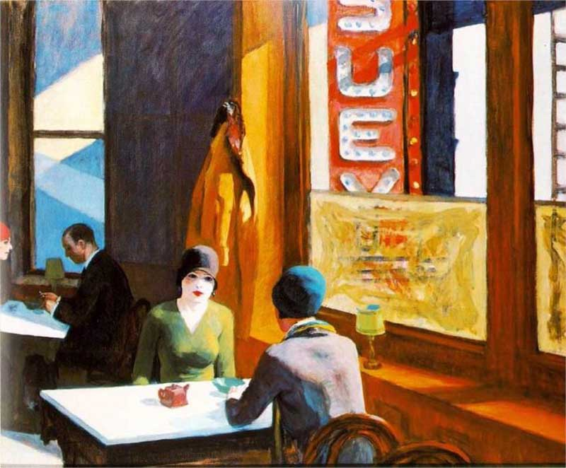 Edward Hopper - Chop Suey (1929)