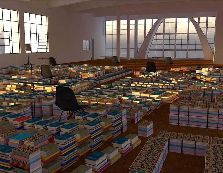 Instalação inédita propõe a reativação da biblioteca da Casa do Povo