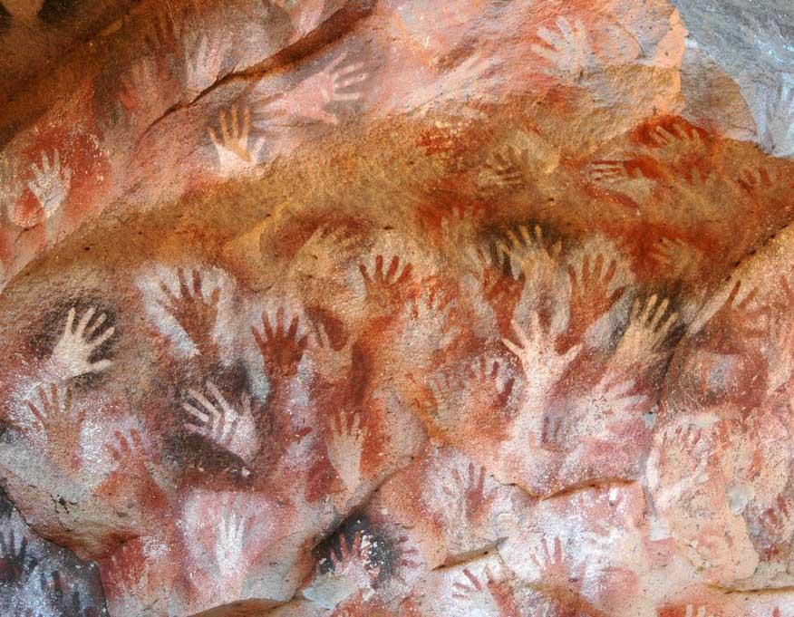 mãos em negativo; arte rupestre