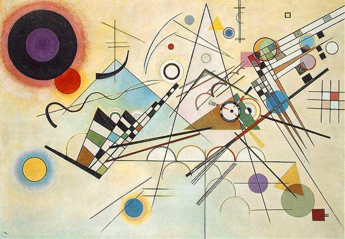 arte abstrata; Kandinsky - Composition 8