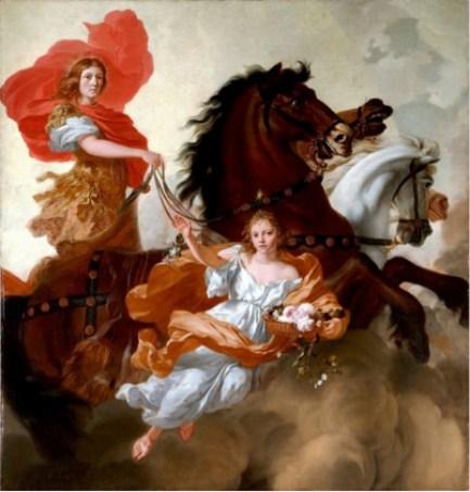 Gerard DE LAIRESSE (1641-1711) Apolo e Aurora, 1671. Óleo sobre tela, 204,5x193,4. Metropolitan Musem of Art
