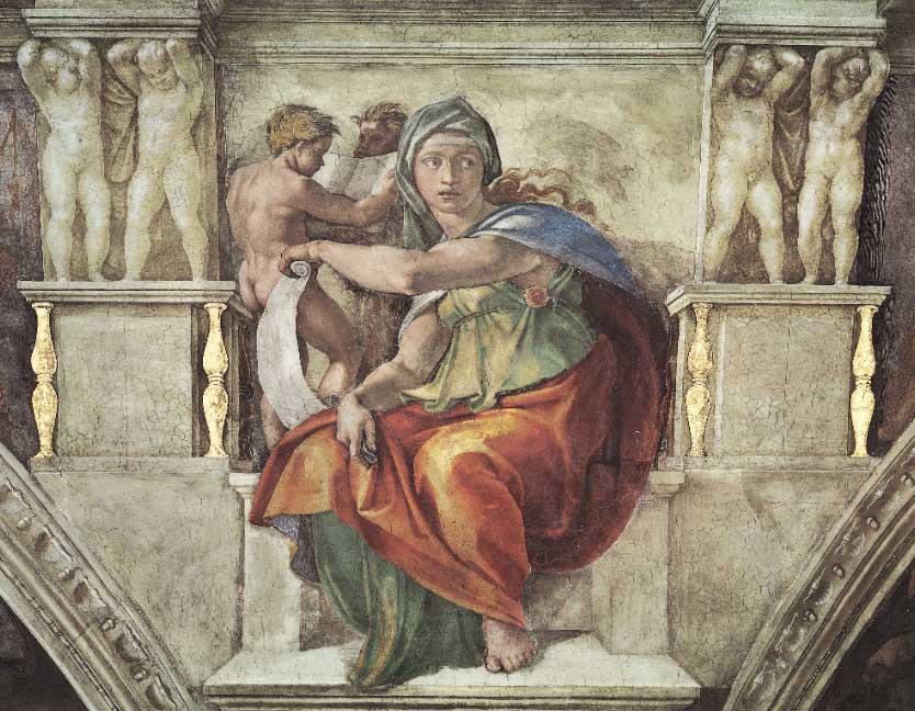 Sibila Délfica, detalhe do afresco da Capela Sistina