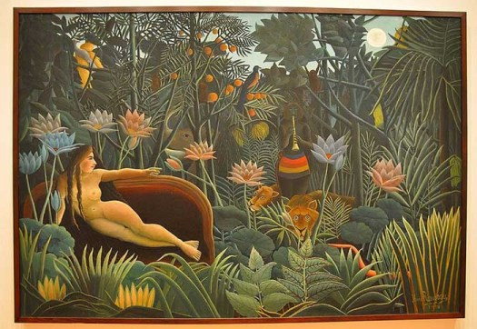Henri Rousseau. The Dream. 1910. Oil on canvas, 6' 8 1:2 x 9' 9 1:2 (204.5 x 298.5 cm). Gift of Nelson A. Rockefeller