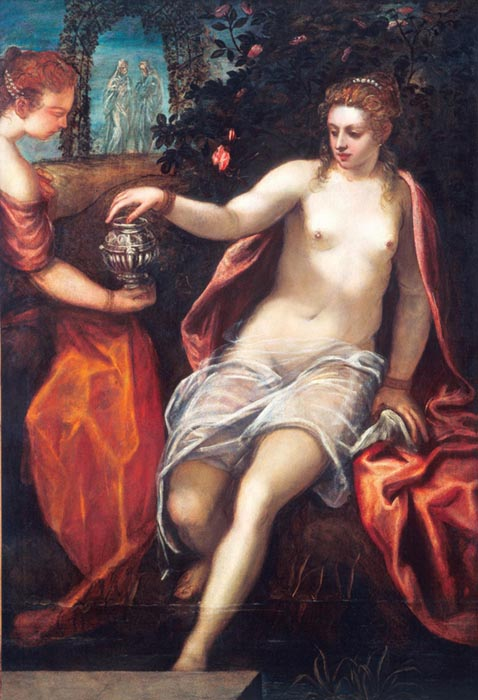 Maneirismo ;TINTORETTO (1518-1594) Susana, ca. 1580. Óleo sobre tela, 150.2x102.6. National Gallery of Art, Washington, EUA.