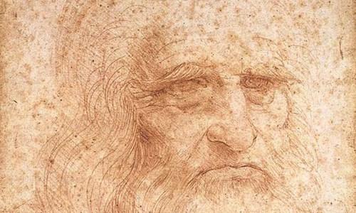 Leonardo da Vinci. O retrato de um homem de giz vermelho(1512) | Biblioteca Reale, Turin (Itália)