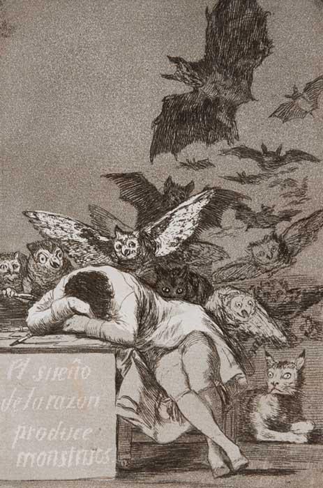 Goya - Los Caprichos n43 | El Sueno de la Razon Produce Monstruos