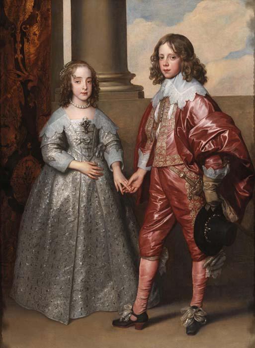 Antoon VAN DYCK (1599-1641) Williem II, Príncipe de Orange, e sua noiva Maria Henrietta Stuart, filha de Carlos I da Inglaterra,1641. Óleo sobre tela, 182.5x142. Rijksmuseum, Amsterdam, Holanda.