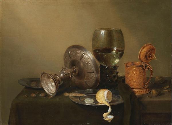 Willem Claesz. HEDA (ca.1593/94-ca.1680/82) Natureza-morta com caneca dourada de cerveja, 1634. 44.5x62. Rijksmuseum, Amsterdam, Holanda.