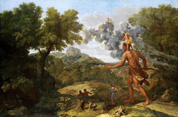 Nicolas POUSSIN (1594-1665) Órion cego à procura de sol nascente, 1658. Óleo sobre tela, 119.1x182.9. The Metropolitan Museum of Art. Nova York, EUA