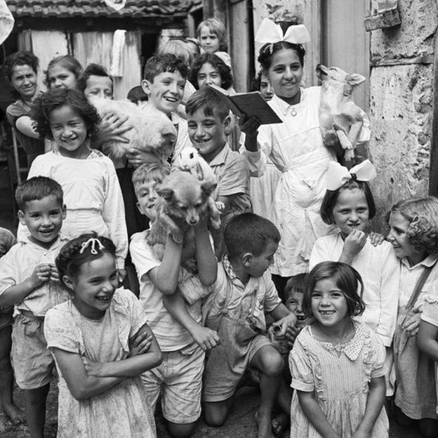 Crianças do bairro do Brás