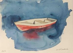 Barco no azul